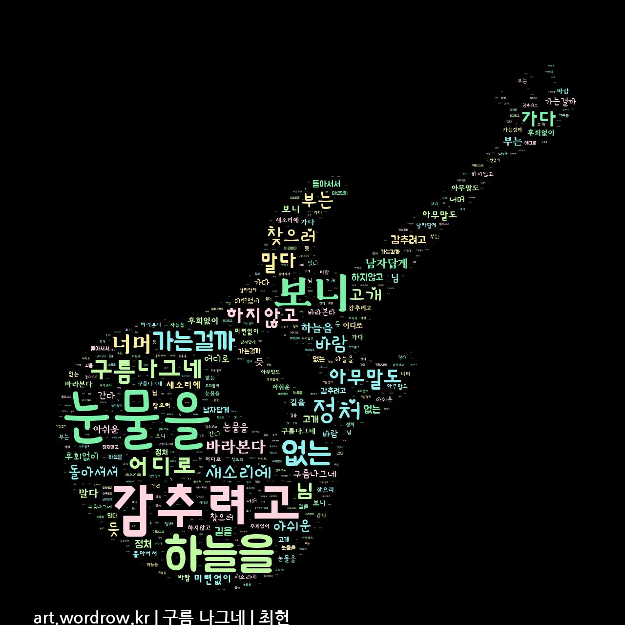 워드 클라우드: 구름 나그네 [최헌]-4